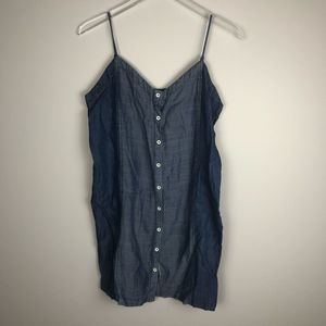 Nordstrom 1250C Tencel Chambray Dress M Flawed
